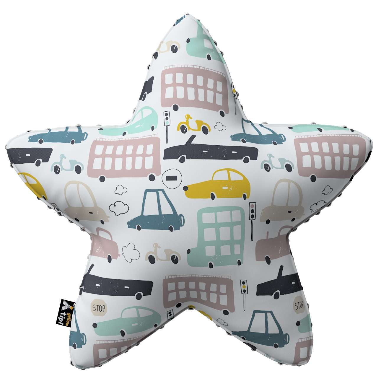 Lucky Star pillow with minky in collection Magic Collection, fabric: 500-02