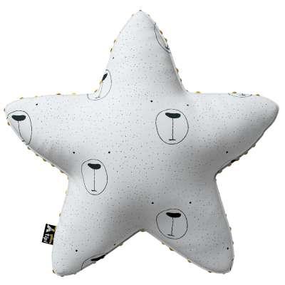 Kissen Lucky Star aus Minky von der Kollektion Magic Collection, Stoff: 500-06