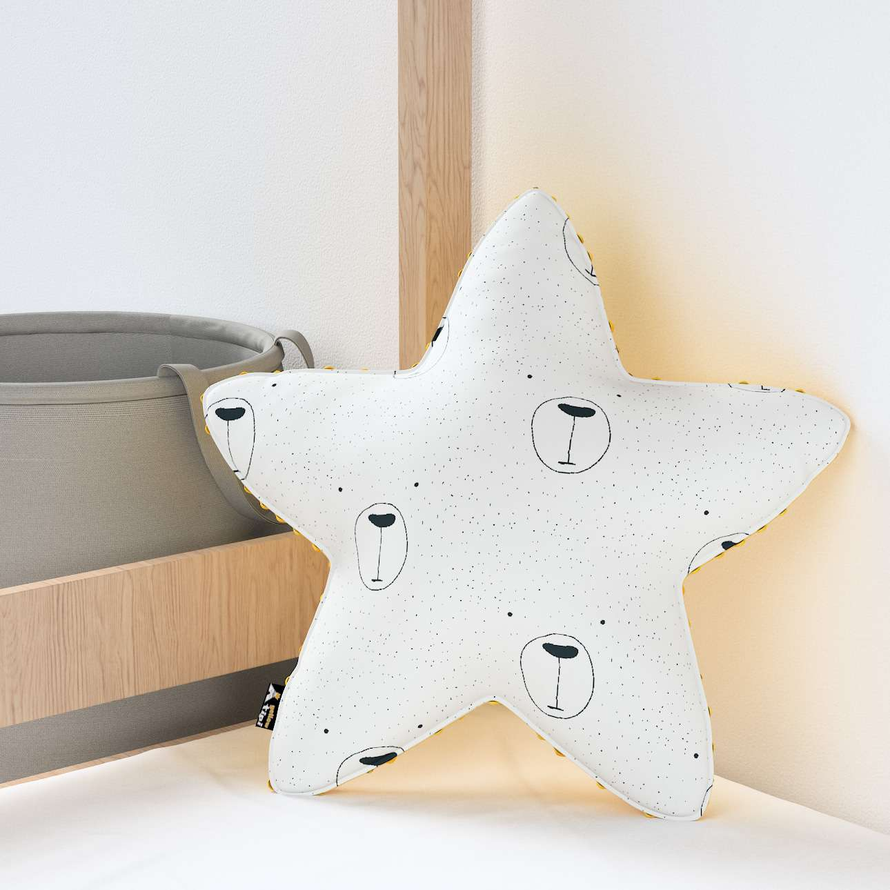 Lucky Star pillow with minky in collection Magic Collection, fabric: 500-06