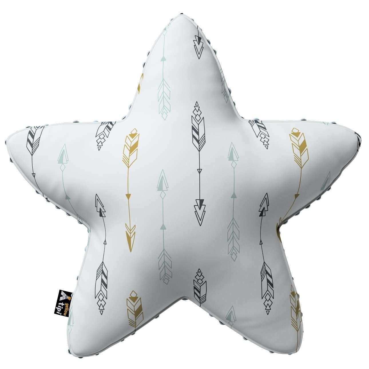Kissen Lucky Star aus Minky von der Kollektion Magic Collection, Stoff: 500-07