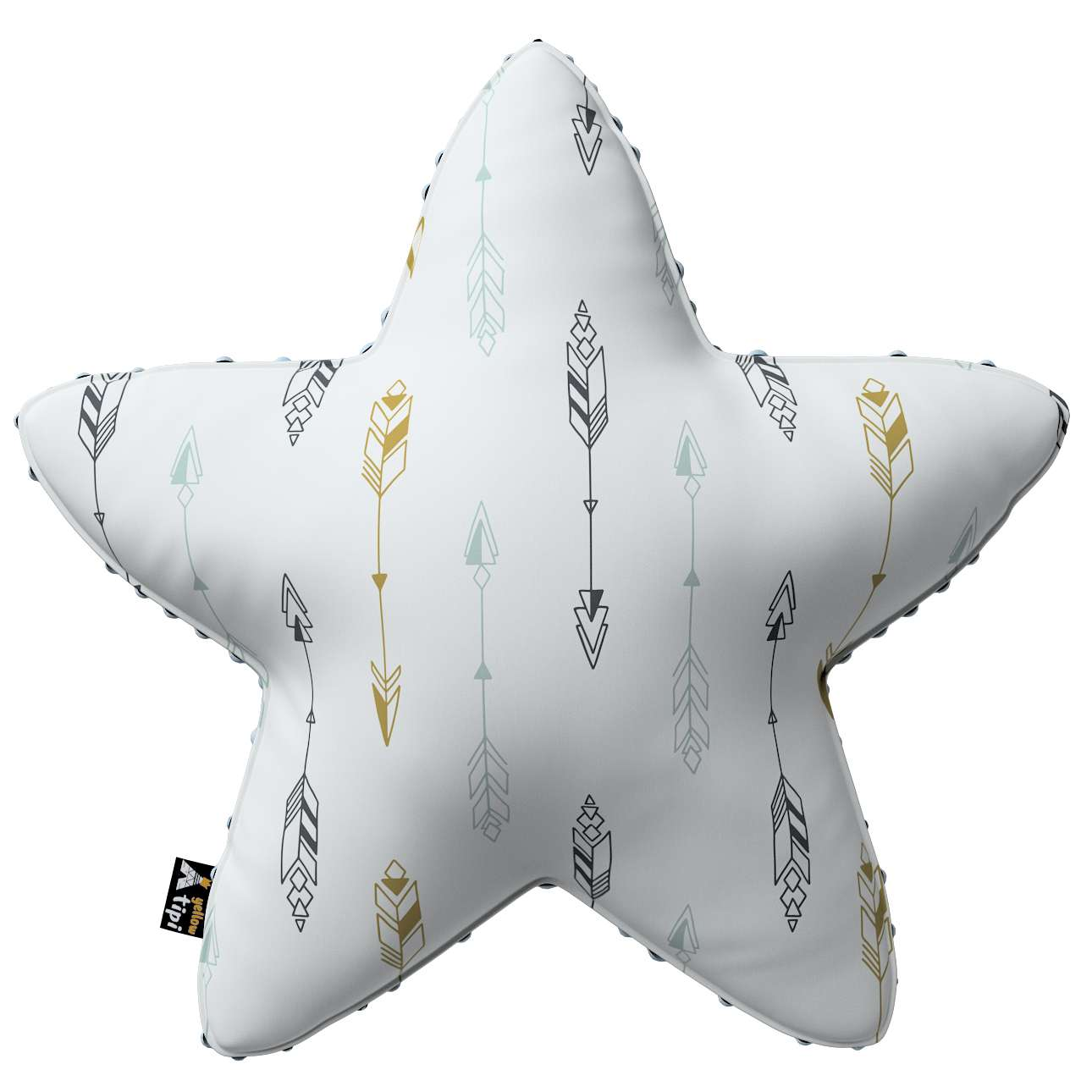 Lucky Star pillow with minky in collection Magic Collection, fabric: 500-07