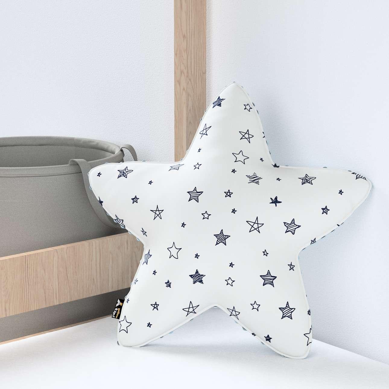 Kissen Lucky Star aus Minky von der Kollektion Magic Collection, Stoff: 500-08