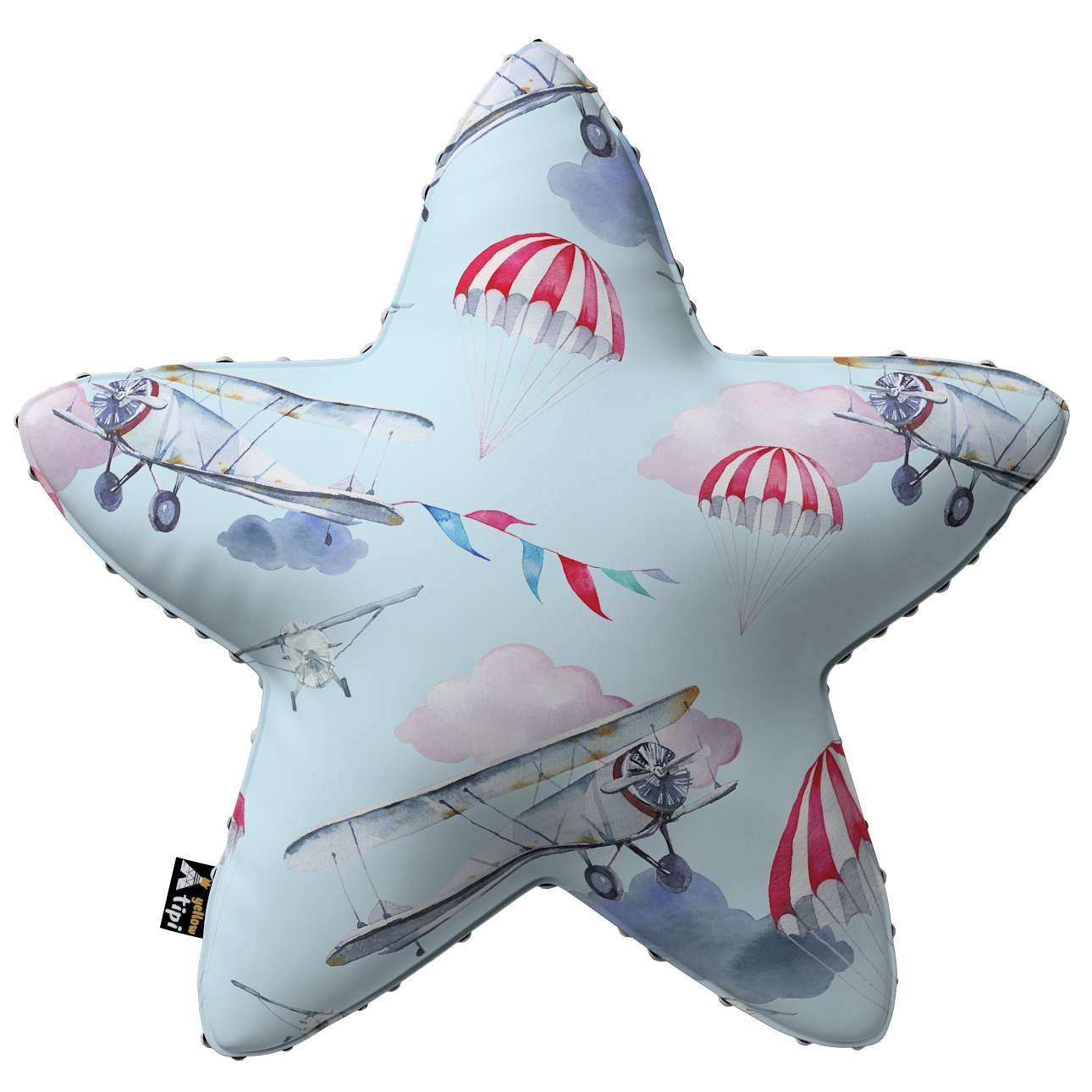 Lucky Star pillow with minky in collection Magic Collection, fabric: 500-10