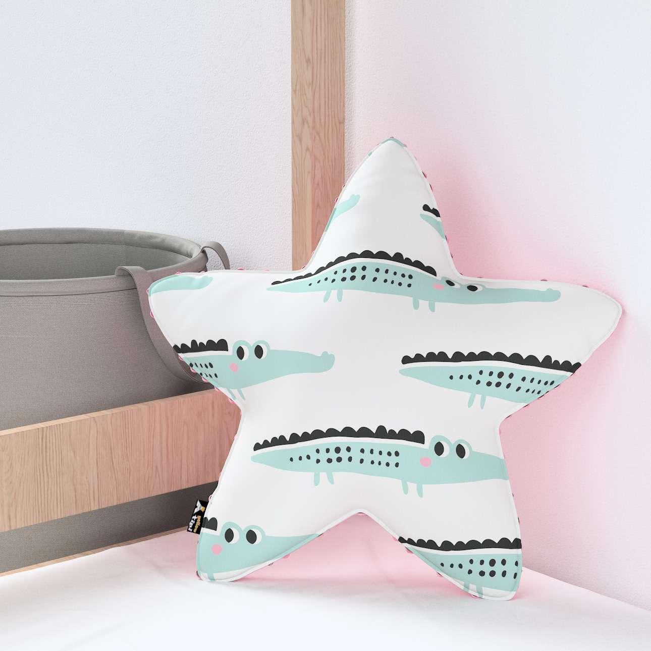 Kissen Lucky Star aus Minky von der Kollektion Magic Collection, Stoff: 500-11