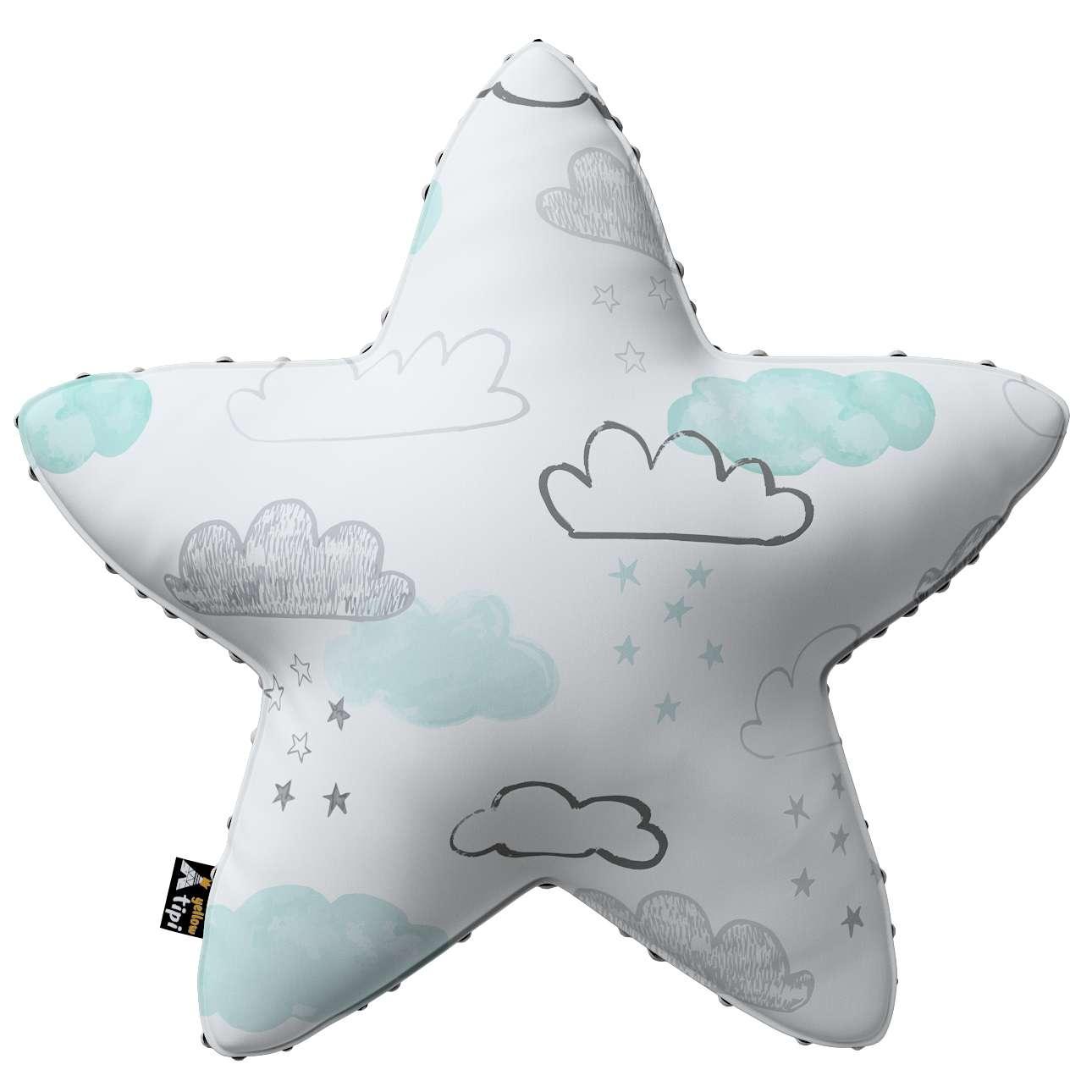 Kissen Lucky Star aus Minky von der Kollektion Magic Collection, Stoff: 500-14