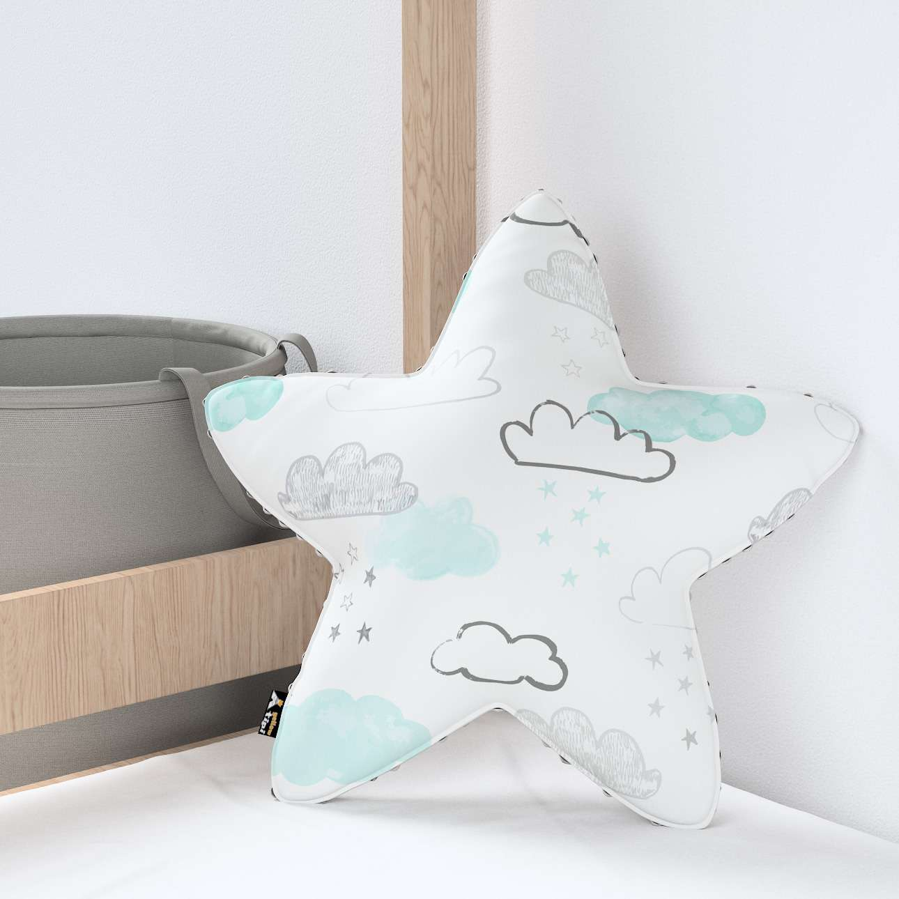 Lucky Star pillow with minky in collection Magic Collection, fabric: 500-14