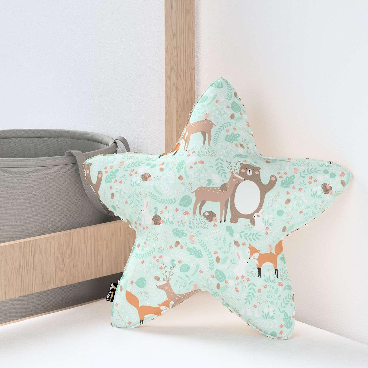 Kissen Lucky Star aus Minky von der Kollektion Magic Collection, Stoff: 500-15