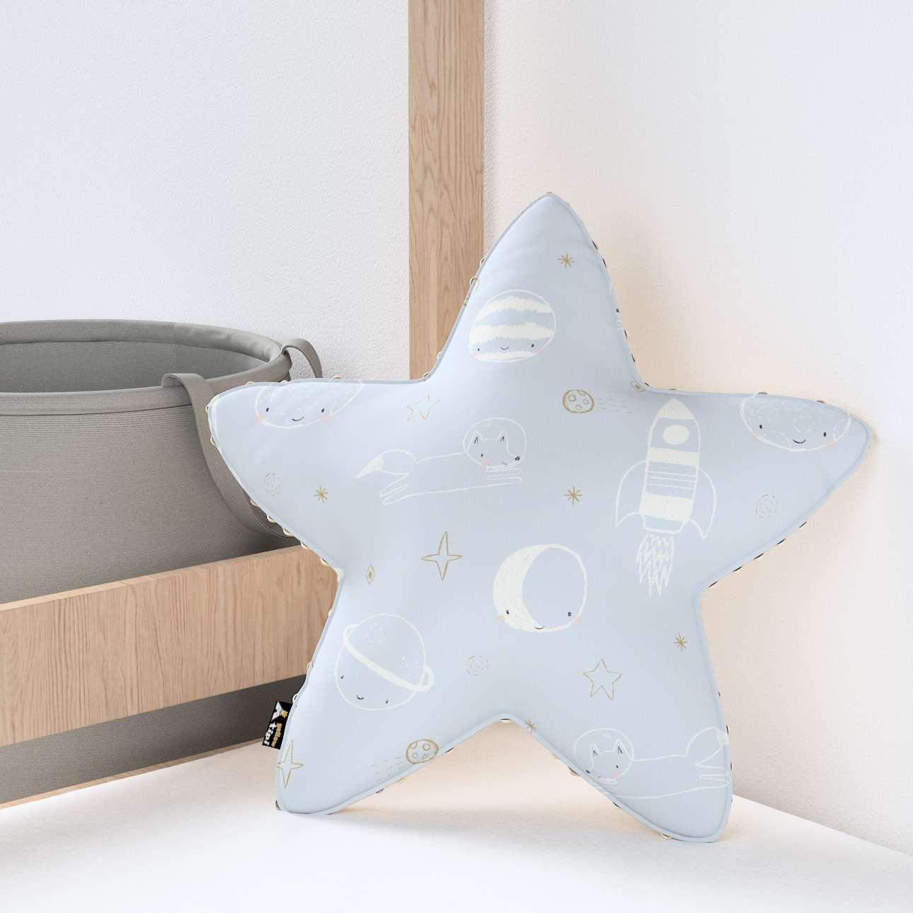 Kissen Lucky Star aus Minky von der Kollektion Magic Collection, Stoff: 500-16