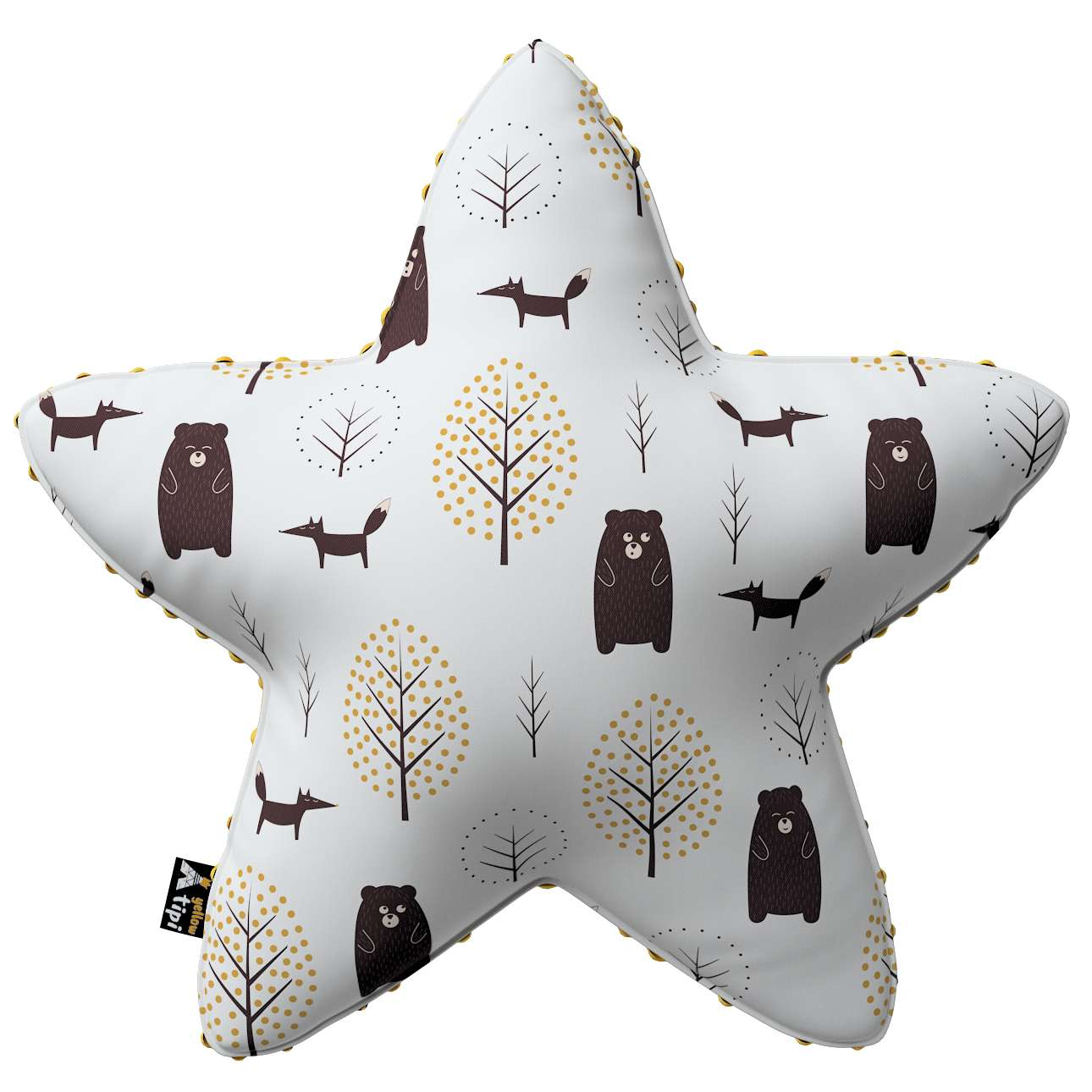 Lucky Star pillow with minky in collection Magic Collection, fabric: 500-19