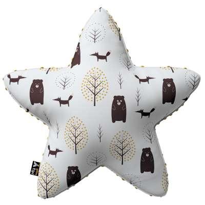Kissen Lucky Star aus Minky von der Kollektion Magic Collection, Stoff: 500-19