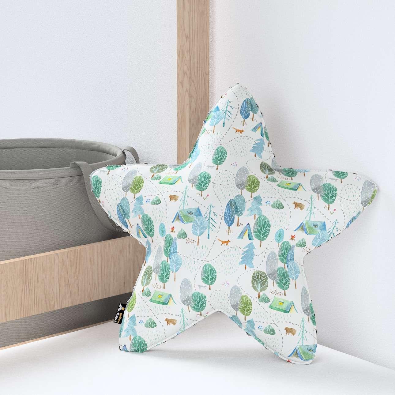 Kissen Lucky Star aus Minky von der Kollektion Magic Collection, Stoff: 500-21