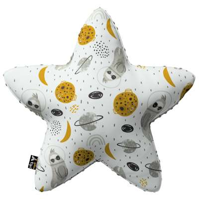 Lucky Star pillow with minky 500-44 white-gray Collection Magic Collection