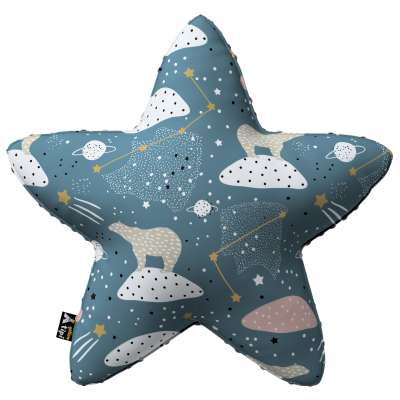 Lucky Star pillow with minky 500-45 blue Collection Magic Collection