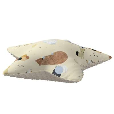 Lucky Star pillow with minky 500-46 beżowy Collection Magic Collection