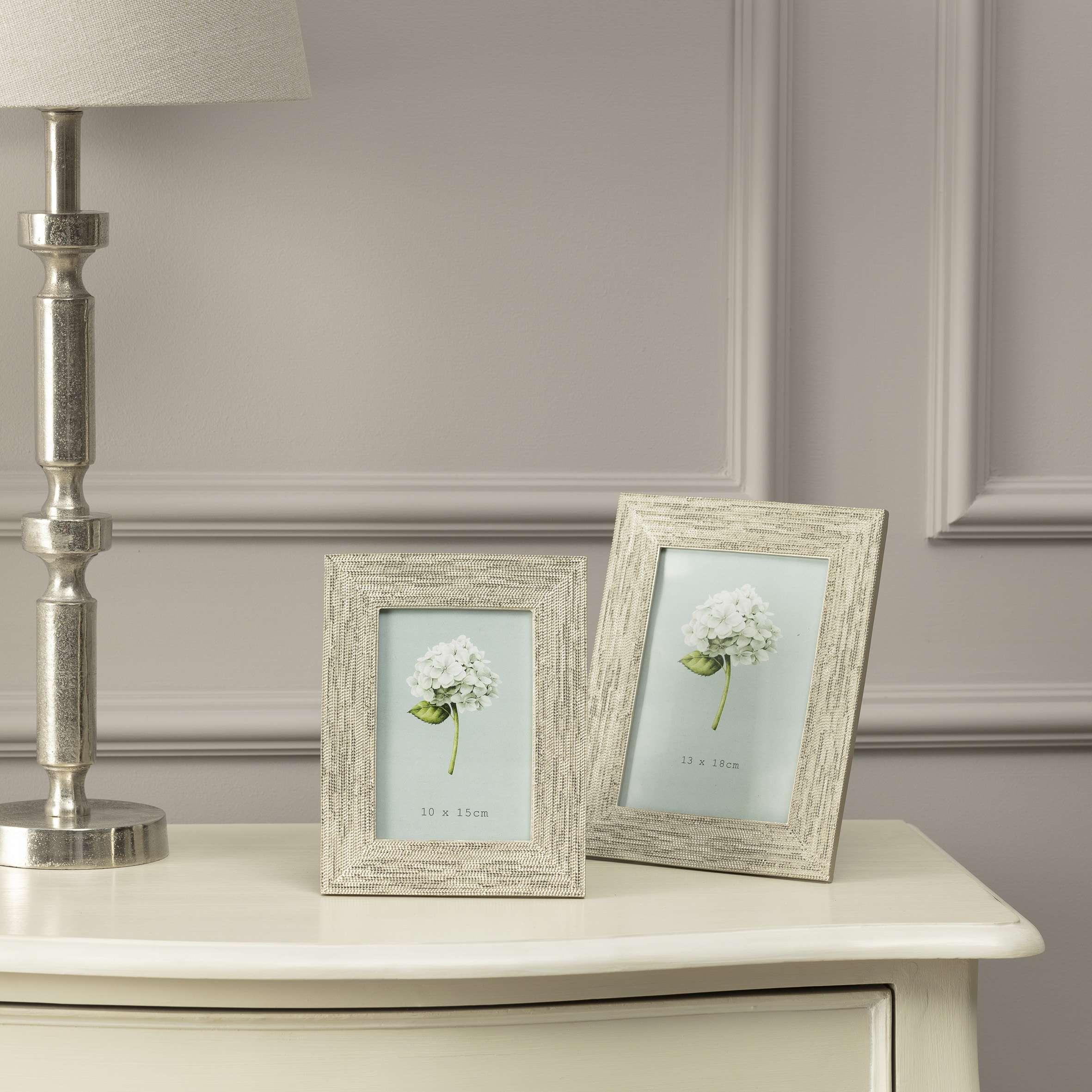 Fotorahmen Poly Silver 10 x 15 cm