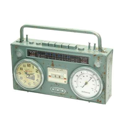 Uhr Retro I 35 x 8 x 26 cm Uhren - Dekoria.de