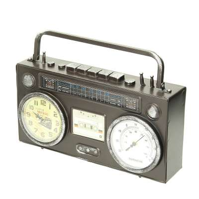 Uhr Retro II 35 x 8 x 26 cm Uhren - Dekoria.de