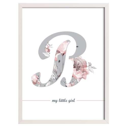 Obrázek Rose Lagoon Letter 30x40 cm