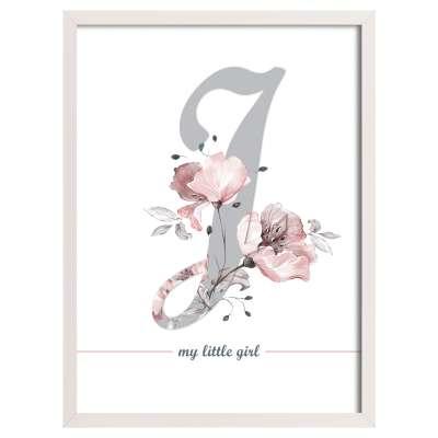 Bild Rose Lagoon Letter 30x40cm