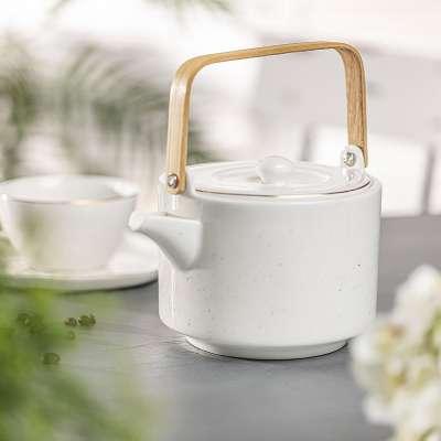 Theepot Artesanal white 800ml Thee- en koffiepotten - Dekoria.nl