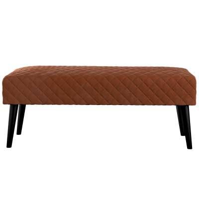 Čalouněná lavička Velvet s prošitím 704-33 rezavá Kolekce Velvet
