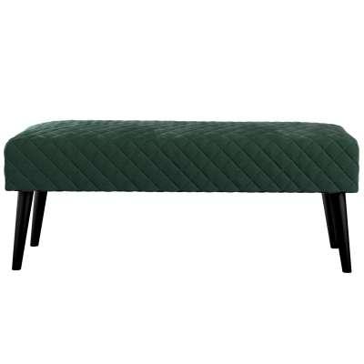 Čalouněná lavička Velvet s prošitím 704-25 tmavá lesní zeleň Kolekce Christmas