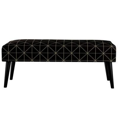 Dlouhá lavička Wild LIfe 100cm 142-55 černo - béžový vzor Kolekce Black & White