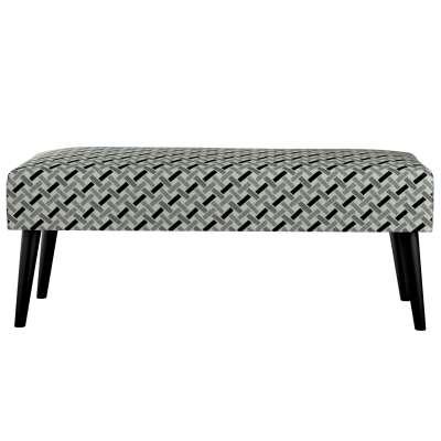 Dlouhá lavička Wild LIfe 100cm 142-78 černo-bílý vzor s pruhy na šedém podkladu Kolekce Black & White