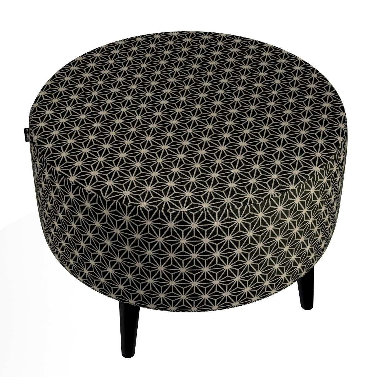 Okrúhla podnožka Wild LIfe V kolekcii Black & White, tkanina: 142-56