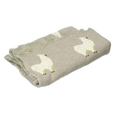 Llama grey rug