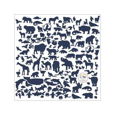 Aufkleber-Set World Animals Blue