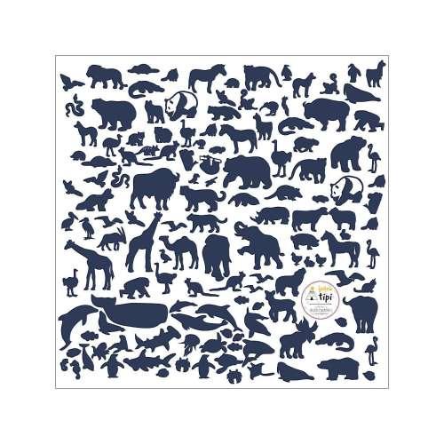 World Animals Blue