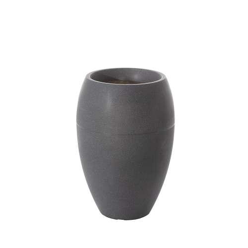 Dekorační květináč Rillen Grey výška 59 cm