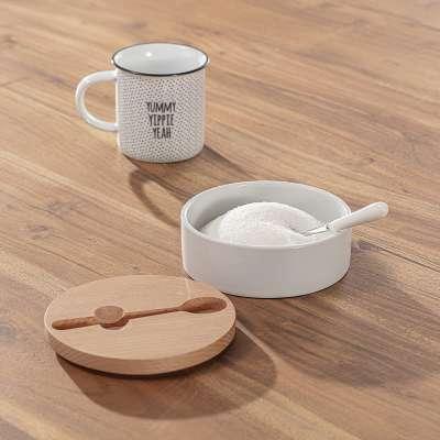 Zuckerdose mit Teelöffel Bamboo 14,7 x 6 cm Küchenaccessoires - Dekoria.de