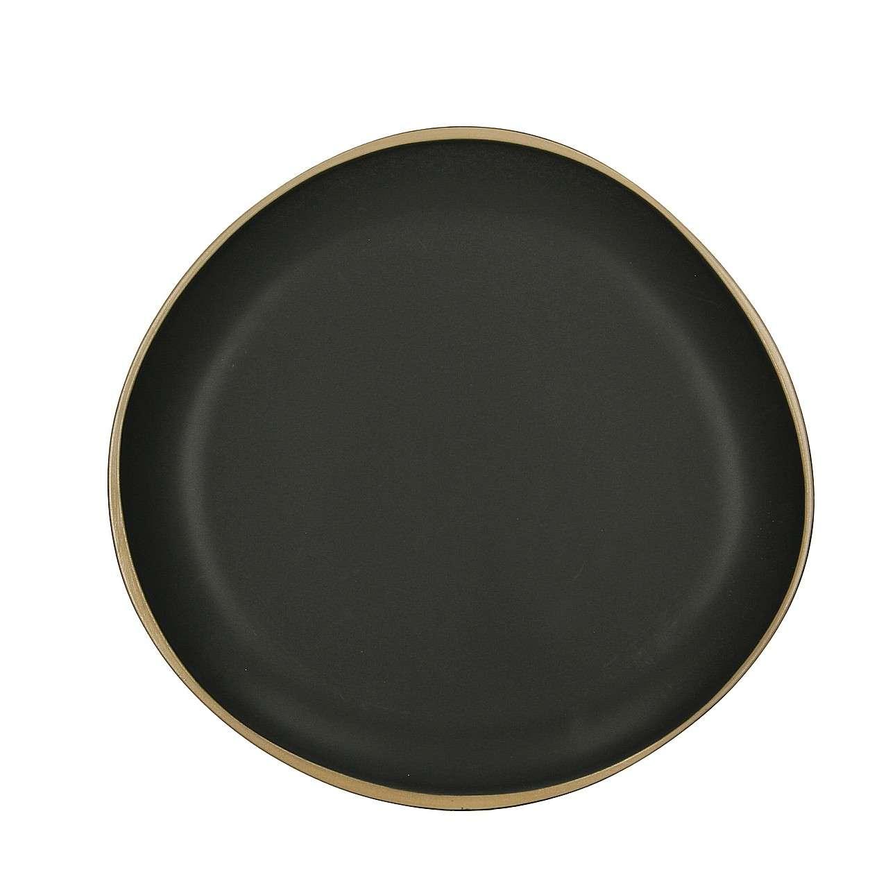Teller Galloway 26 cm, 26 cm  | Küche und Esszimmer > Besteck und Geschirr > Geschirr | Matt - Schwarz | Dekoria