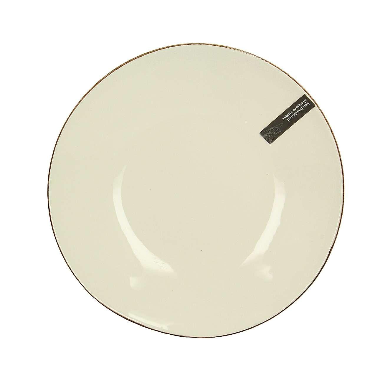 Teller Organic Line 28 cm cream, 28 cm  | Küche und Esszimmer | Creme | Dekoria