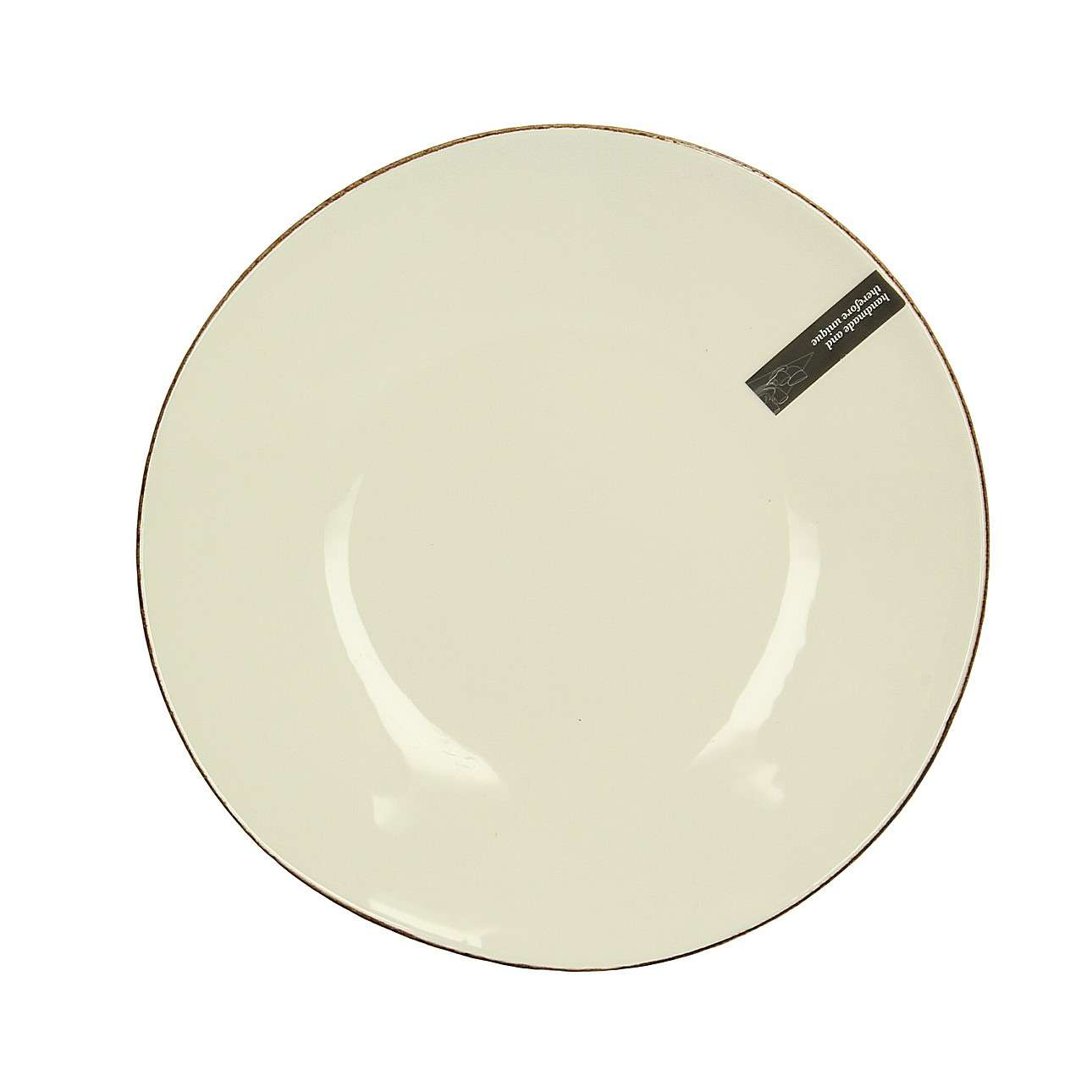 Talíř Organic Line průměr 28 cm cream