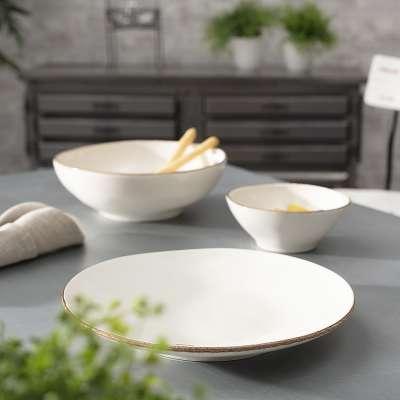 Talerz Organic Line 27 cm cream Kerámiák, étkészletek, porcelánok - Dekoria.hu