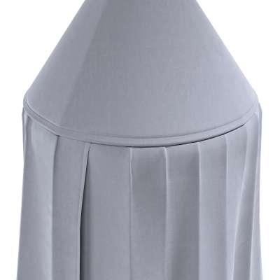 Baldachýn 704-24 stříbřitě šedá Kolekce Posh Velvet