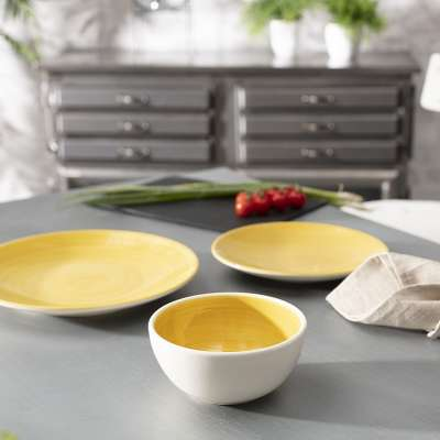 Schüssel Augusto 400 ml yellow Schalen - Dekoria.de