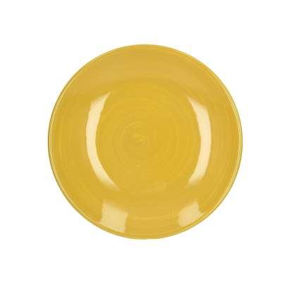 Talerz Intervida 22 cm yellow Kerámiák, étkészletek, porcelánok - Dekoria.hu