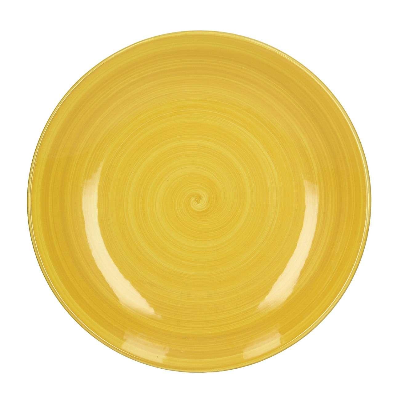 Talíř Agusto 27 cm yellow
