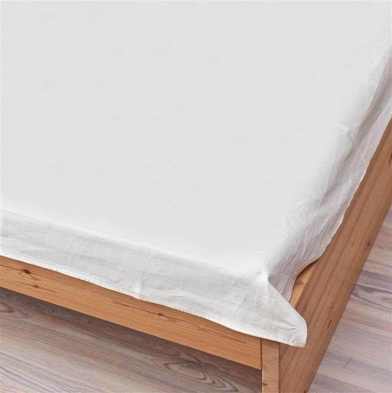 Prześcieradło satynowe proste białe 200 × 220 cm