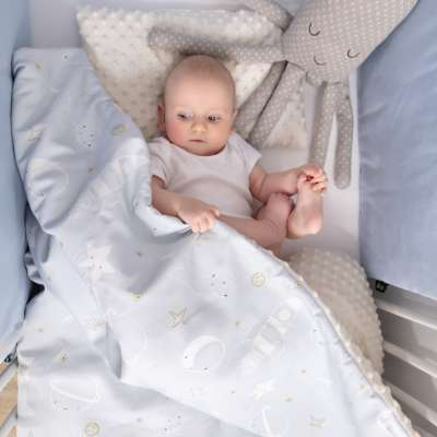 Minky-Babydecke von der Kollektion Magic Collection, Stoff: 500-17