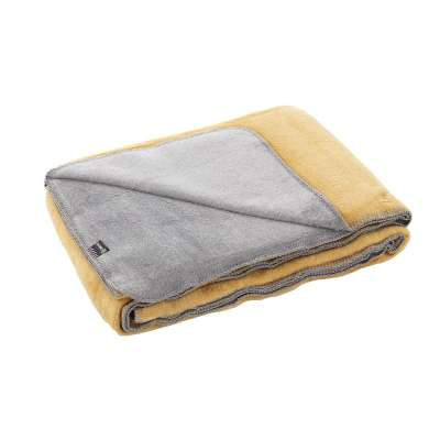 Koc Cotton Cloud 150x200cm  Mustard&Grey