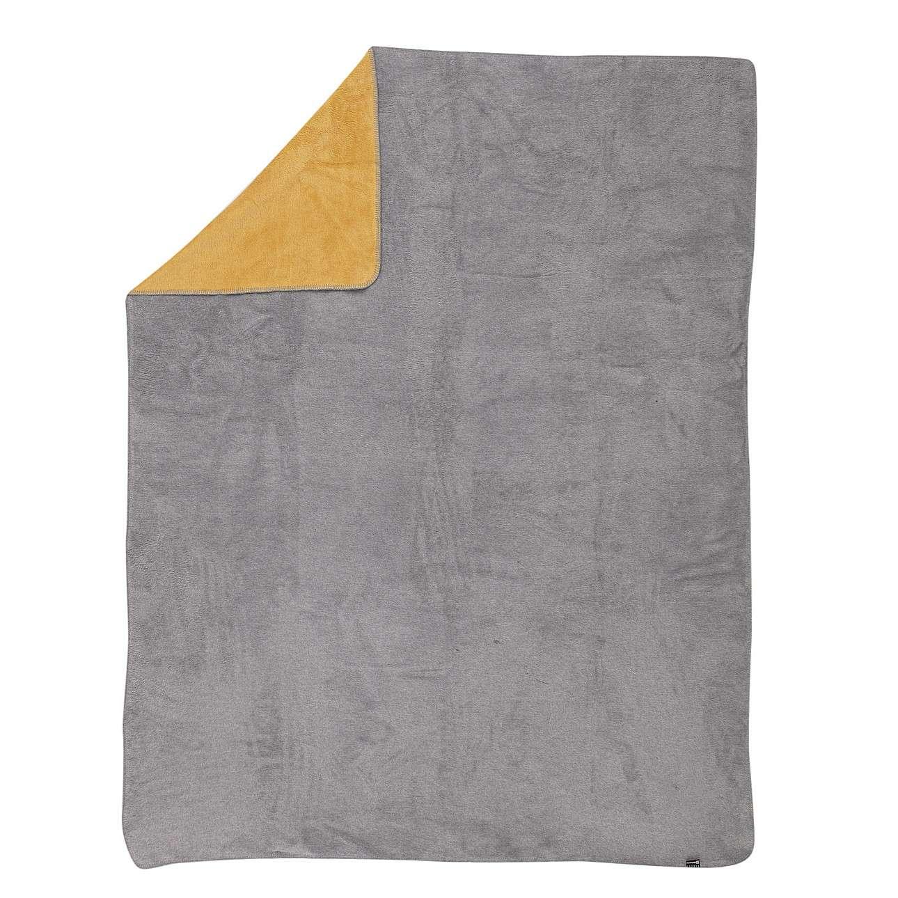 Koc Cotton Cloud 150x200cm  Mustard&Grey