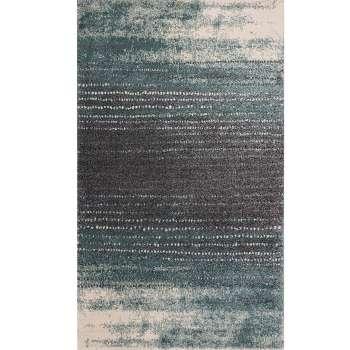 Dywan Modern Teal blue/ dark grey 200x290cm