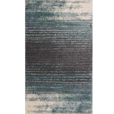 Koberec Modern Teal blue/ dark grey 200x290cm Koberce - Dekoria-home.cz