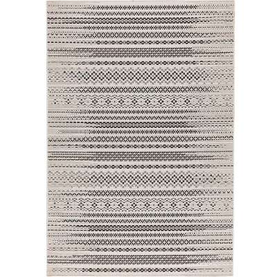 Teppich Modern Etno wool/ black 200x290cm Teppiche - Dekoria.de