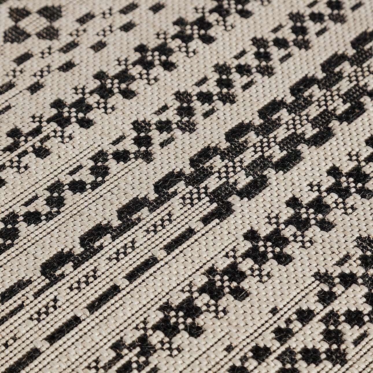Dywan Modern Etno wool/ black 200x290cm